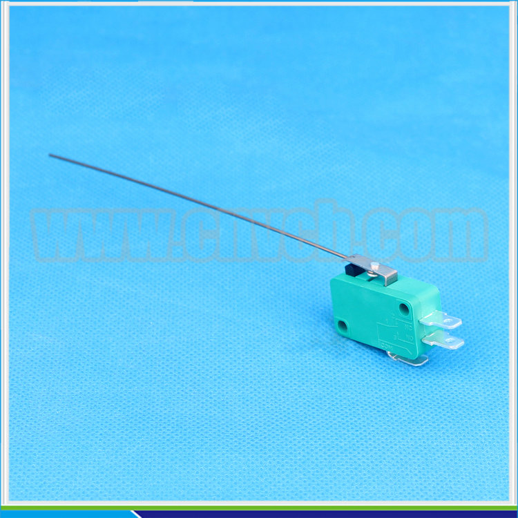 M22 KW7-9S ABS plastic 1A/250VAC CE&RoHS super Long steel wire lever type air micro switch