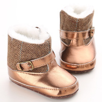 Children's Winter Shoes Gold Baby Moccasins Toddler Boots For Girls Photos