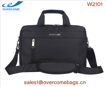 "low MOQ high quality black nylon waterproof shockproof multifunctional 14"" bag for laptop"