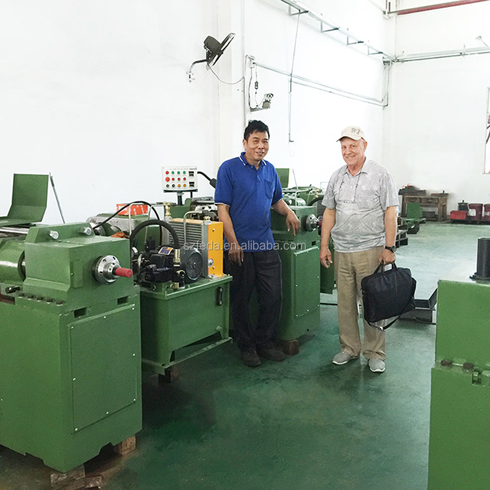 FEDA automatic thread rolling machine stainless steel nuts and bolts making machine high speed screw making machine