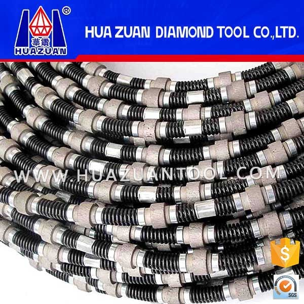 Safety spring diamond wire rope saw for marble cutting