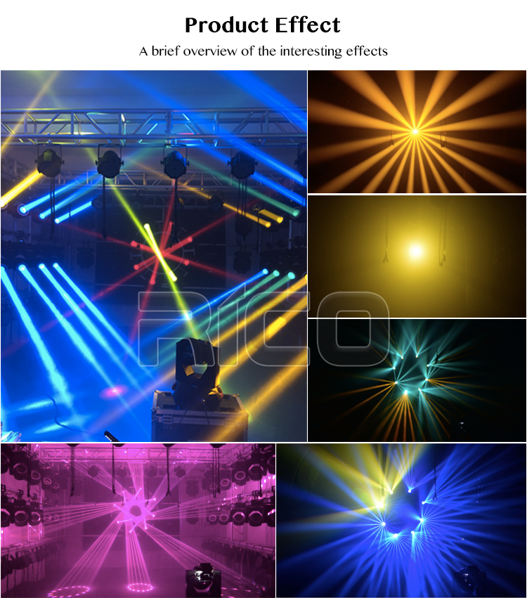 holiday lighting small mini 7r beam 230 moving head with 2 prism