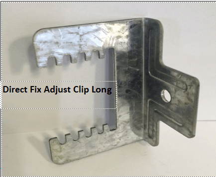 Adjust furring channel clip