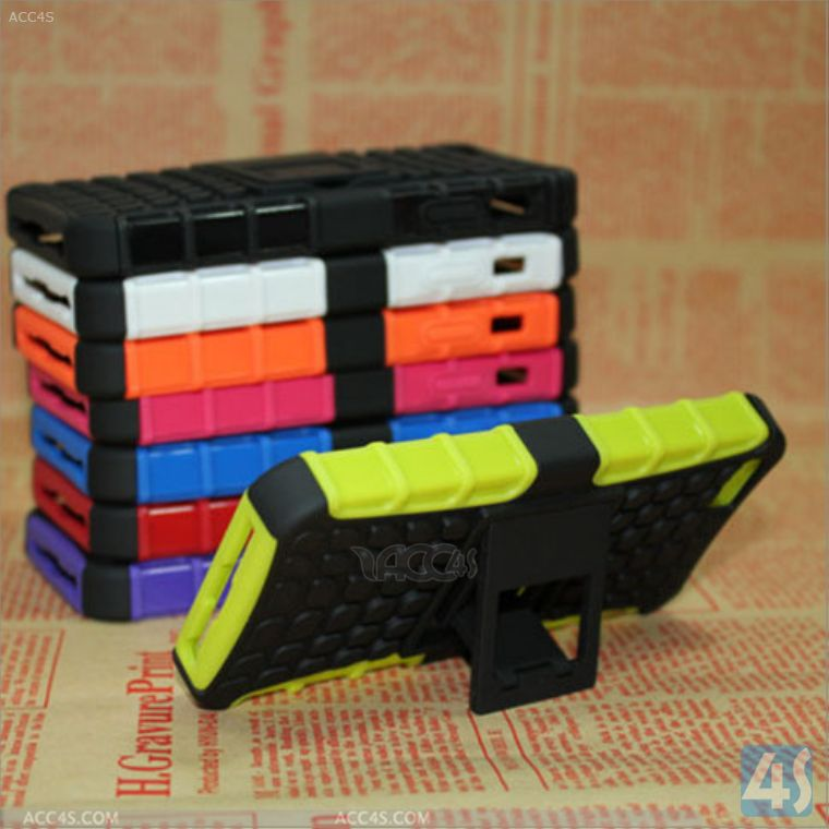 Kick stand robot pc slicone case for iphone 5 5s P-IPH5PC110