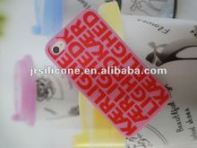 Silicone phone case with customer's logo,mobile silicone case for iphone4/4s