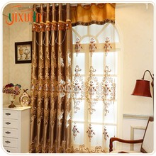 Wholesale 100% polyester embroidery fancy ready made type of office window curtain