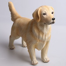 Cute decoration resin animal gold wool dog statue resin figure