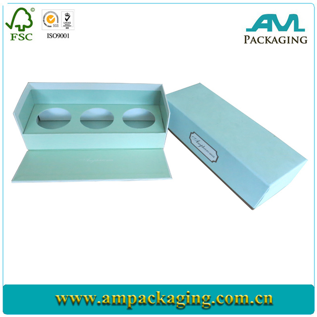Silver paper scented fragrance gift box for perfume bottle packaging