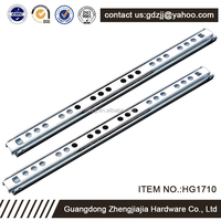 1.0*1.0MM Cabinet Hardware 17mm 2 Fold Mini Telescopic Drawer Channel