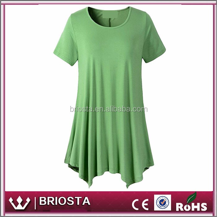Wholesale Customized Personalized Womens Swing Tunic Tops