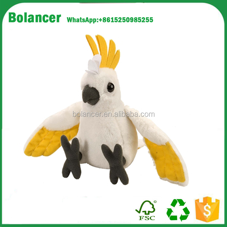 Custom Plush Toy Animals New Style Plush Cockatoo Soft Toy