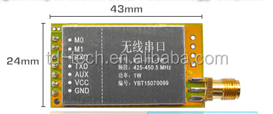 433M 1W high power AX5043 serial data radio module
