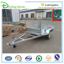 hot dip galvanized cage box trailer