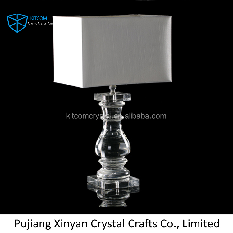 2016 hotel decoraion antique crystal table lamp for bedroom