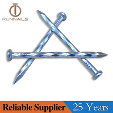 High Shine Galvanized Angular Spiral Steel Concrete Nail--25 Years Experience