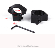 "Low 25.4mm 1"" Scope Rings 11mm Dovetail rail mount used For hunting rifle scope/Lasers / Flashlight"