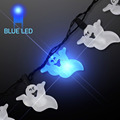 Halloween Ghost Flashing Lights Necklace LED Bright Safety Light Necklace