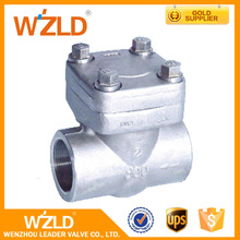 WZLD Ss,A105,LF2,F5,F11 Material Screwed Type Spring Loaded Vertical Forged Check Valve
