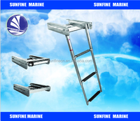 S.S.316 Telescopic labber with platform, Stainless Steel Boat Ladder