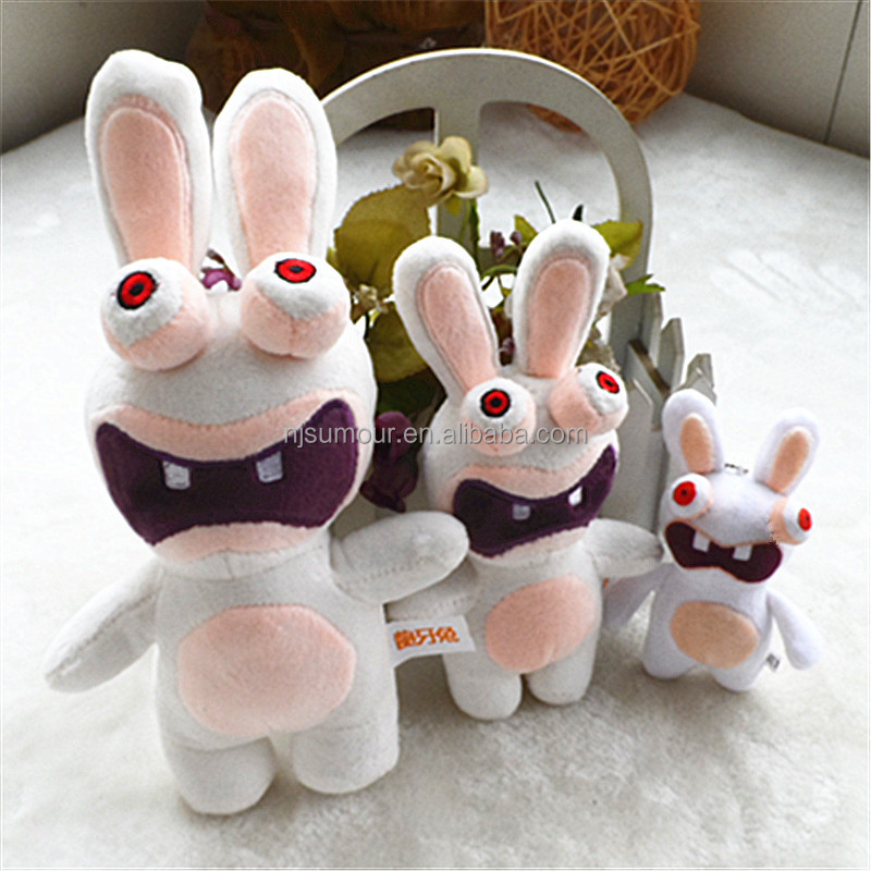 plush white rabbit stuffed ugly bunny children soft toy