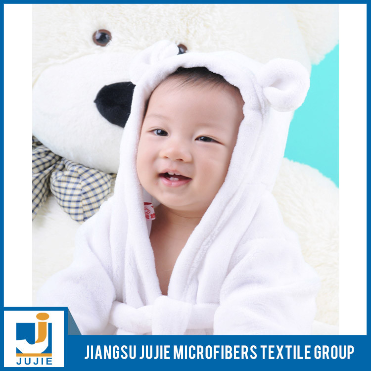 2016 cute animal baby robe hooded baby bathrobe