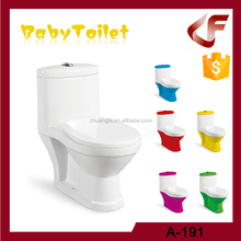 Modern customized colors baby sit toilet with slow drop