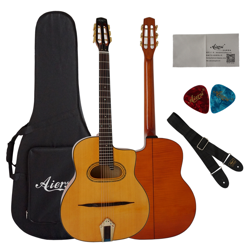 Custom best selling acoustic guitar of China gypsy guitar