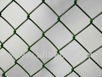Chain link fences from PVC coated wire