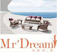MR DREAM Modern Rattan sofa outdoor furniture CF76