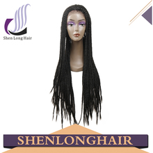 High Quality Fully Hand Braided Long Lasting Box Braid Wig, African Braided Wigs for Black Women