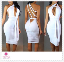 2016 white cheap backless evening sexy women bandage bodycon dress