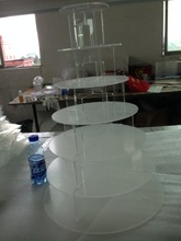 Professional Made High Transparent 7-tire round cupcake stand/cupcake wedding cake stands/plastic cupcake stand tiers