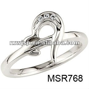 half heart stainless steel new-style engagement rings