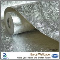 Barca special design golden glittering wallpaper for hotels