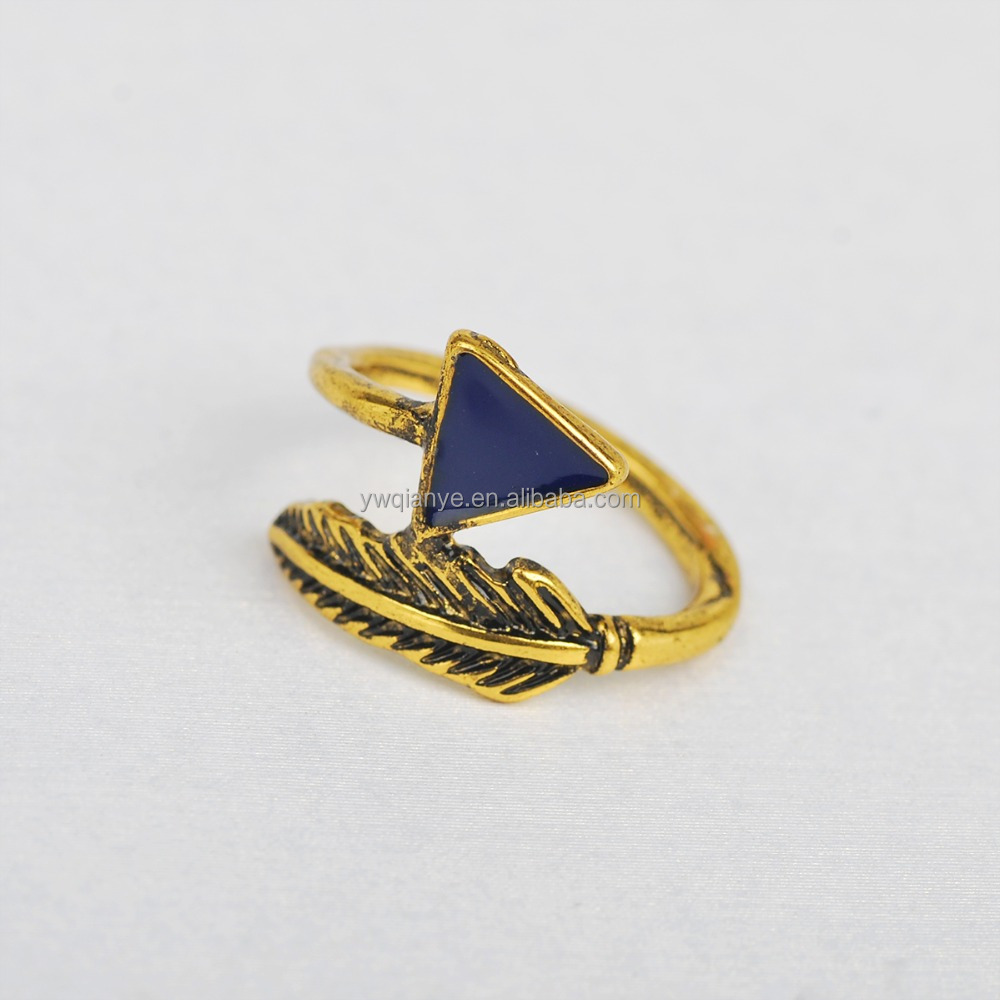 Wholesale fashion jewelry arrow shaped gold ring designs for Jewelry storm arrow ring