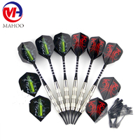 6 Pack Steel Tip Darts 18 Grams with Aluminum Shaft Professional Metal Dart Tips Set