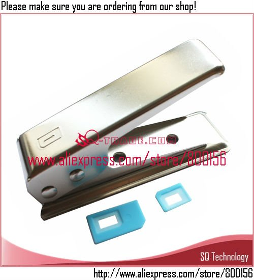 Micro Sim to Nano Sim Card Cutter + 2pcs Adapter for iPhone 5 5G