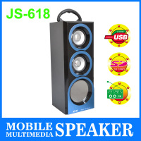 New Style Fashion Portable PA Amplifier Wooden Wireless Portable Outdoor Speakers With USB FM Radio #JS-618