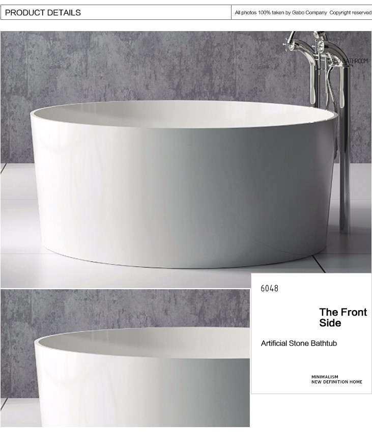 resin stone soaking tub round on sale buy resin stone soaking tub