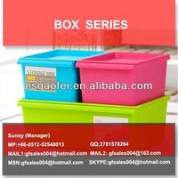 plastic storage box with interlock lid