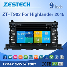 for toyota highlander 2015 in dash car gps with mp3 player, radio,audio, gps, bluetooth,3g,phonebook