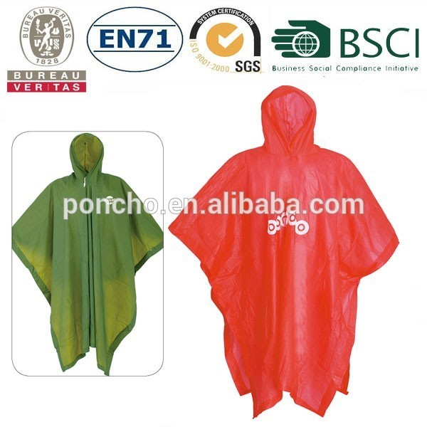 Wholesale waterproof reusable yellow pvc raincoat/rain wear