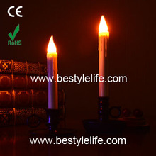 flameless decorative yellow LED taper candle