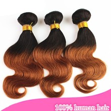 stock retailers general merchandise two tone/omber body wave malaysia human hair weaving