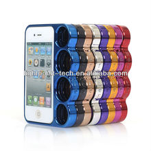 Hard Plastic Case Electroplating Cover for iphone 5G Knuckle Case for iPhone 5