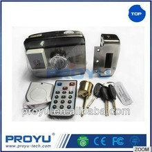 High quality Double cylinder smart card remote control electric rim door lock PY-EL16