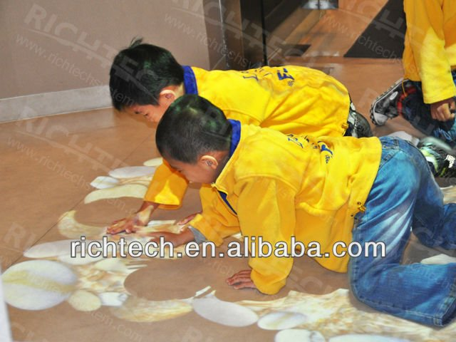 kids favors of interactive floor fun in shopping mall, exhibition, amusement park.