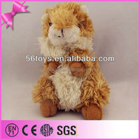 OEM wholesale lifelike soft animals toy, plush squirrel toy