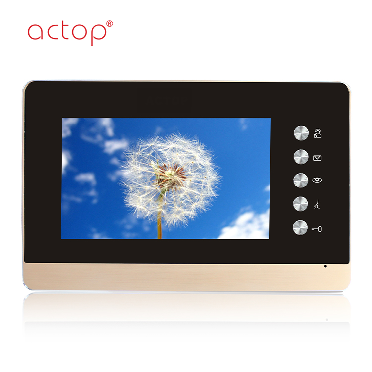 China factory ACTOP TCP/IP video door phone for multiple building intercom system HD color camera