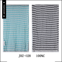 Unique design hot sale long grey and black stripe fashion scarf